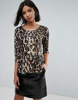 Vero Moda Leopard Top With Peplum
