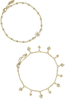 Ettika Multi Star Anklet Set