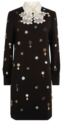 Tory Burch Embellished Shift Dress