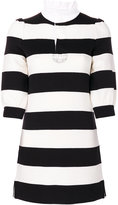 Marc Jacobs striped mini dress - women - Cotton/Nylon/Viscose/Wool - XS