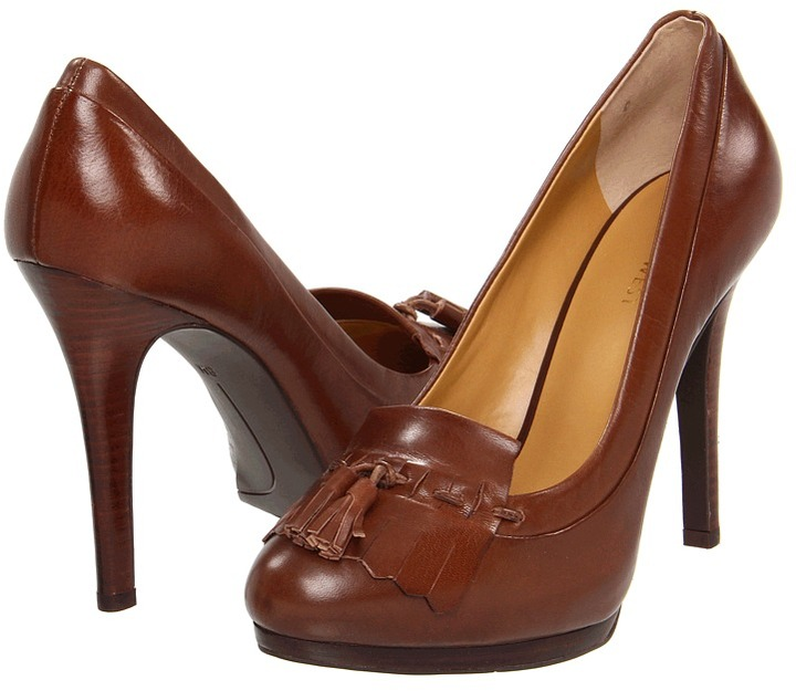 Nine West Drammatico (Dark Brown Leather) - Footwear