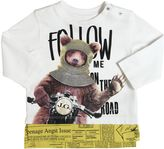 John Galliano Bear Printed Cotton Jersey T-Shirt
