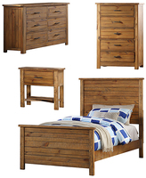 Brown Contemporary Madison Kids' Full-Size Dresser Bedroom Set