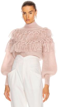 Zimmermann Ladybeetle Tassel Sweater in Ice Pink | FWRD