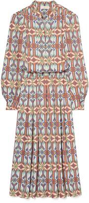 Tory Burch Garden Maze Long Sleeve Shirtdress