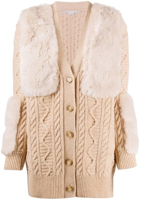 Stella McCartney Knitted Long-Length Cardigan