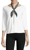 Collection 18 Classic Tassel-Accented Bandana Necklace