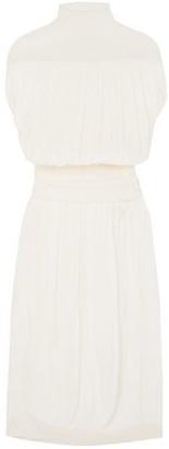 Jil Sander Layered Pleated Organza Maxi Dress