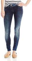 G Star Women's Lynn Zip Midrise Skinny Stretch Denim Dark Aged Jean