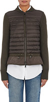 Moncler Women's Maglione Virgin Wool & Tech-Fabric Sweater-DARK GREEN