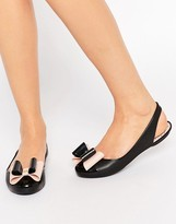 Zaxy Gift Bow Sling Flat Shoes