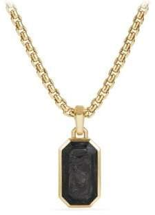 David Yurman Forged Carbon 18K Yellow Gold Pendant