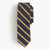 J.Crew English silk repp tie in thin stripe