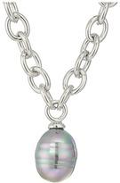Majorica Modern Metal Gold Link Necklace