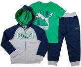 Puma Boys 4-7 Logo Hoodie, Tee & Jogger Pants Set