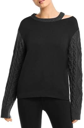 Bailey 44 Margo Cable-Knit-Sleeve Sweater