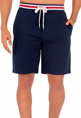 Izod Men's Poly Sueded Jersey Knit Short with Striped Waistband