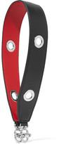 Mark Cross Grace Eyelet-embellished Leather Strap - Black