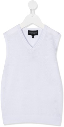 Emporio Armani Kids V-neck tank top