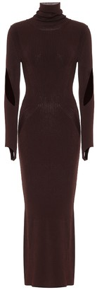 Thierry Mugler Stretch-knit turtleneck maxi dress