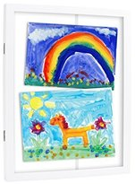Pearhead Pear Head Children's Artwork Storage Frame, White by
