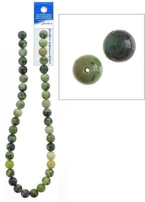"John Bead Corporation John Bead SP 16"" Jade Australian 10mm Round - Medium"