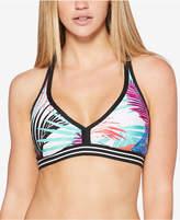 Jag Tropical-Print Racerback Bikini Top