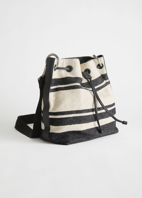 And other stories Striped Canvas Bucket Bag