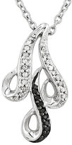 FINE JEWELRY 1/10 CT. T.W. White and Color-Enhanced Black Diamond Sterling Silver Pendant Necklace