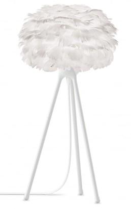 EOS Umage UMAGE - Micro White Feather White Tripod Table Lamp - White