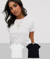 ASOS DESIGN ultimate organic cotton crew neck t-shirt 2 pack