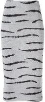 Zoe Karssen zebra print fitted skirt - women - Spandex/Elastane/Lyocell - M