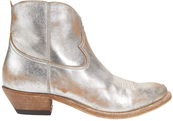 Golden Goose Young Cowboy Metal Tip Boots