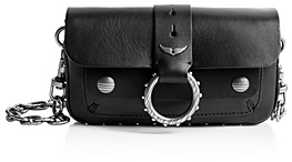 Zadig & Voltaire Kate Arty Snakeskin Chain Wallet