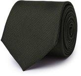 Reiss Bistel - Fleck-detail Silk Tie in Green, Mens