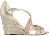 LK Bennett Juliette metallic leather wedges