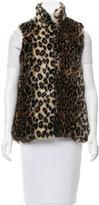 Alice + Olivia Faux Fur Standing Collar Vest