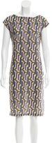 Fendi Striped Knee-Length Dress