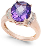 Macy's Amethyst (4-1/4 ct. t.w.) and White Topaz (1/4 ct. t.w.) in 14k Rose Gold-Plated Sterling Silver