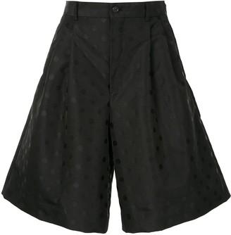 Comme des Garcons Polka Dot Print Wide-Leg Shorts