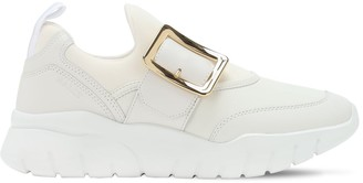 Bally 30mm Leather & Mesh Slip-On Sneakers