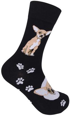 Sockasm Women's Socks - Black & White Chihuahua Socks