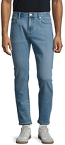 Burberry Faded Buttoned Slim Fit Jeans