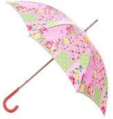 Etro Lizard-Trimmed Floral Umbrella