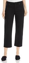 Eileen Fisher Cropped Wide-Leg Jeans in Black