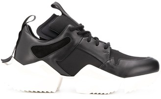 Unravel Project Leather Chunky Sole Sneakers