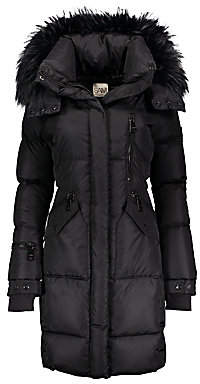 SAM. Women's Highway Fur-Trim Down Puffer Coat