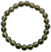 Macy's Faceted Bead Brown Stone Stretch Bracelet