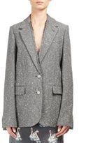 Stella McCartney Oversized Wool Blend Tweed Jacket