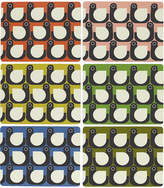 Orla Kiely Assorted Hen Placemats - Set of 6